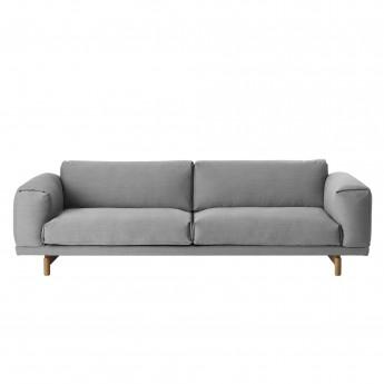 Canapé REST 3 places gris clair