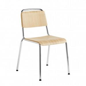 HALFTIME chair - Matt lacquered oak