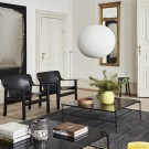 BERNARD Armchair - Black leather