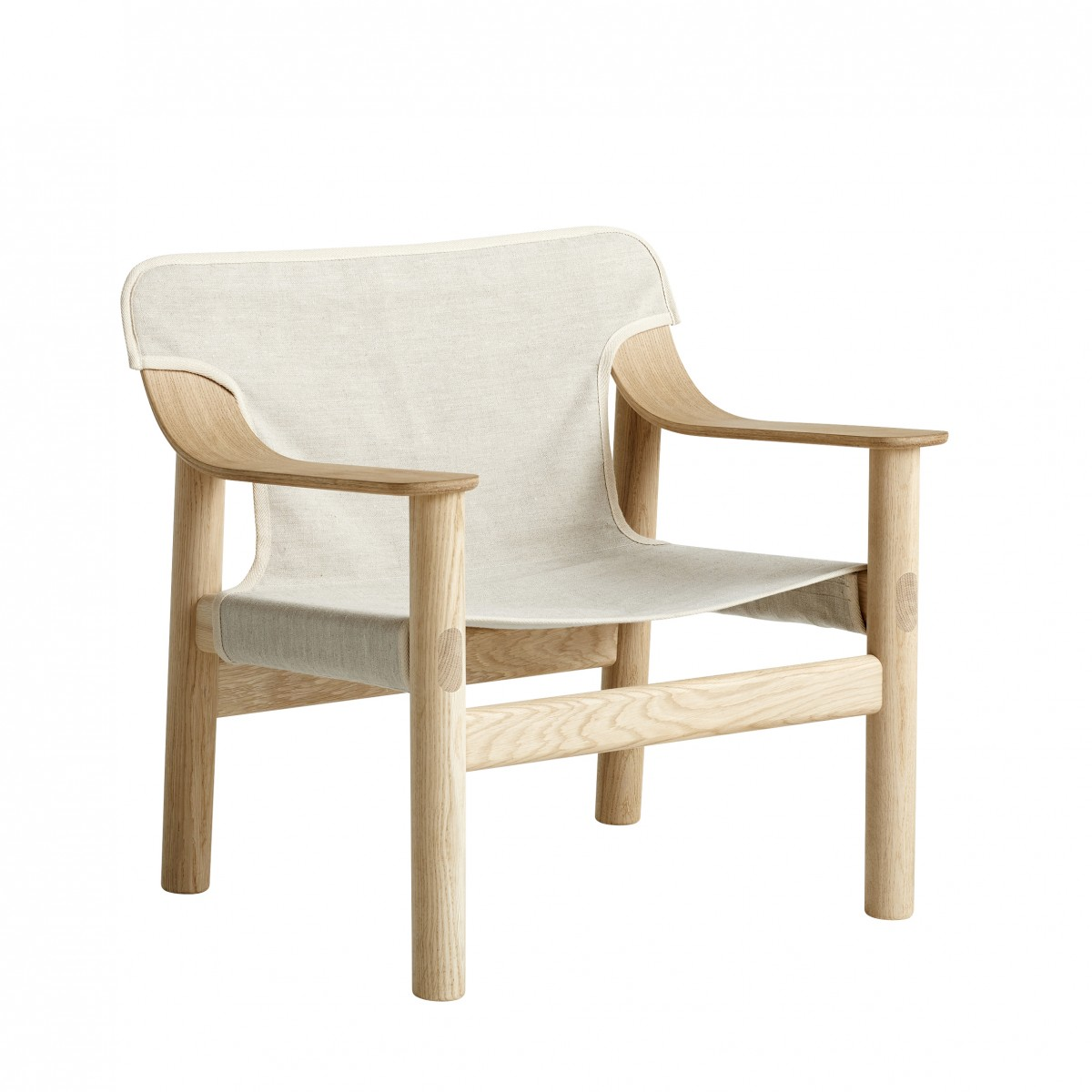 Bernard Armchair Canvas Raw Hay