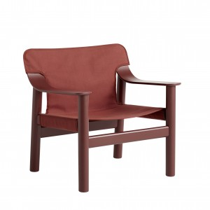 BERNARD Armchair - Canvas red