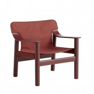 Fauteuil BERNARD - Tissu rouge