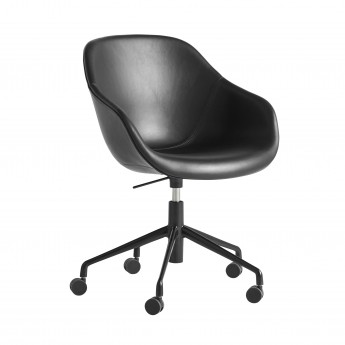AAC 153 Chair - Black leather