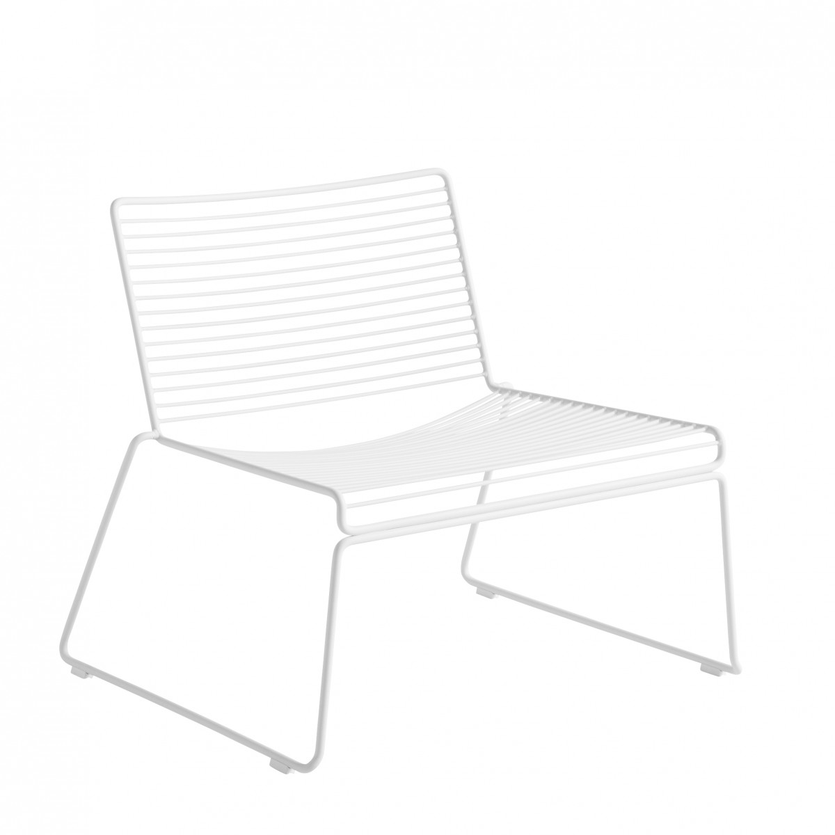 Hee Lounge Armchair In Painted Metal For Indoor And