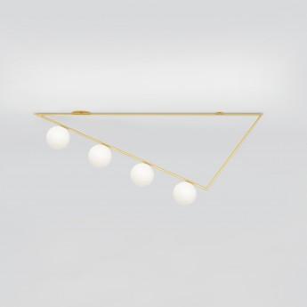 TRIANGLE girlande ceiling - brass, 4 Globes