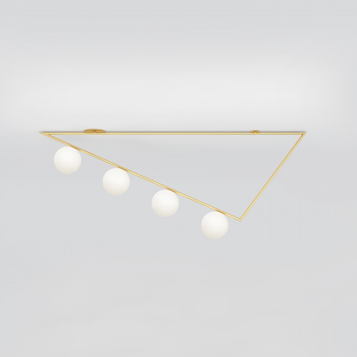 TRIANGLE girlande ceiling - brass, 4 Globes