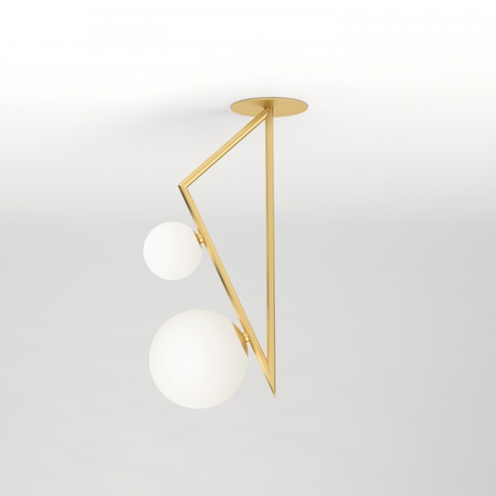Ceiling light TRIANGLE AND GLOBE - 2