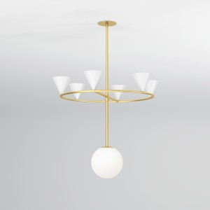CONES ON A RING Pendant light