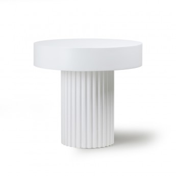 Coffee table PILLAR - White
