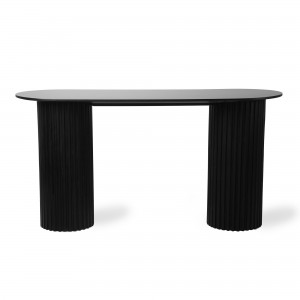 Oval side table PILLAR - Black