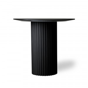 Round side table PILLAR - Black