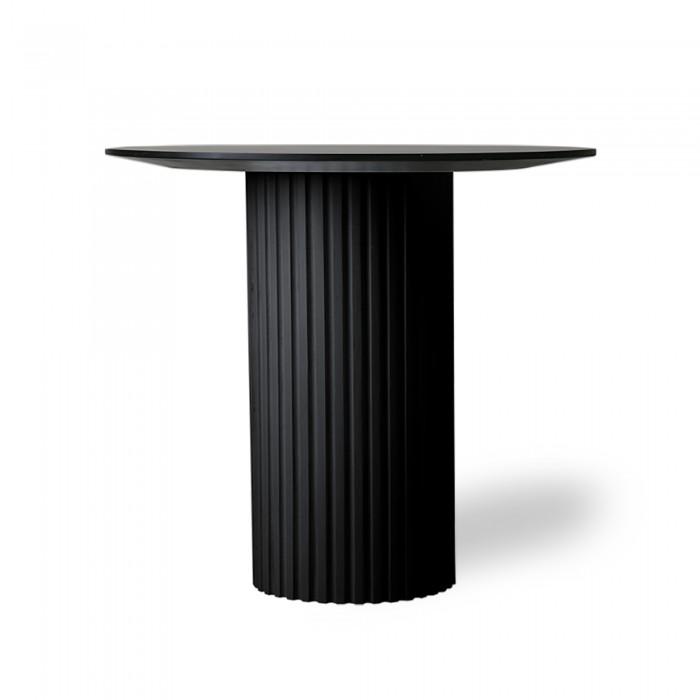 Table PILLAR d'appoint ronde - Noir