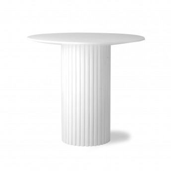 Ronde side table PILLAR - white