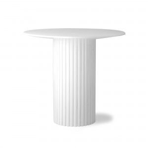 Round side table PILLAR - White