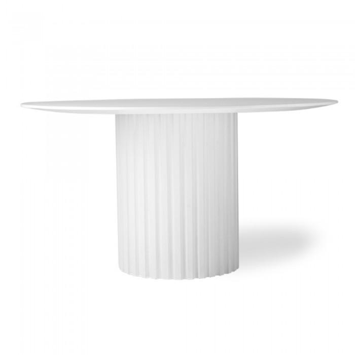 Dining table PILLAR - white