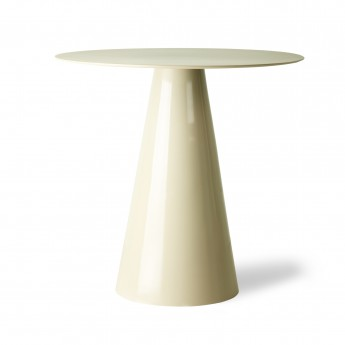 Metal side table - cream