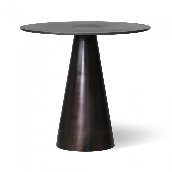 Metal side table - black