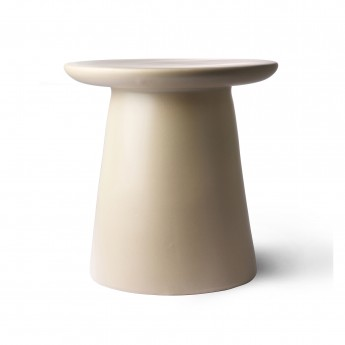 Metal side table - cream