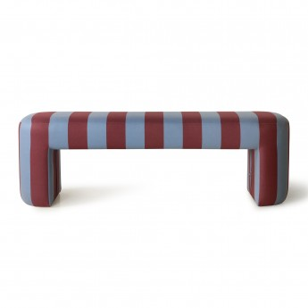 Lobby bench striped blue/purple