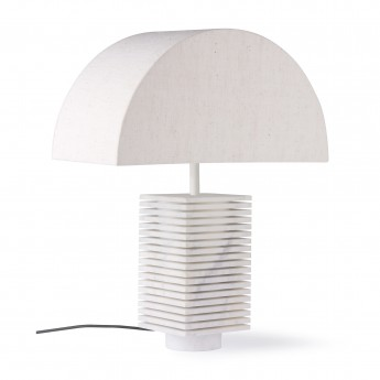 Lampe de table en marbre - blanche