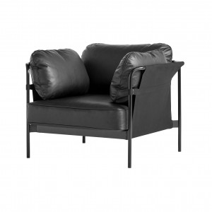 CAN Armchair - Black leather