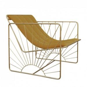 ELDORADO armchair - Velvet camel