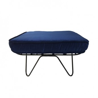 CROISETTE Pouf velvet night blue