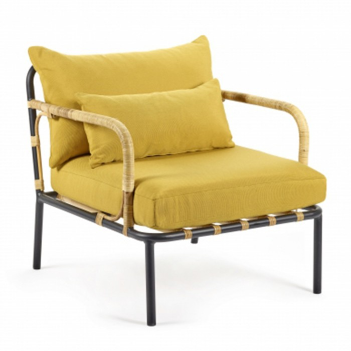 CAPIZZI yellow armchair - HONORE