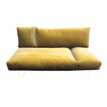 CROISETTE pink velvet sofa S