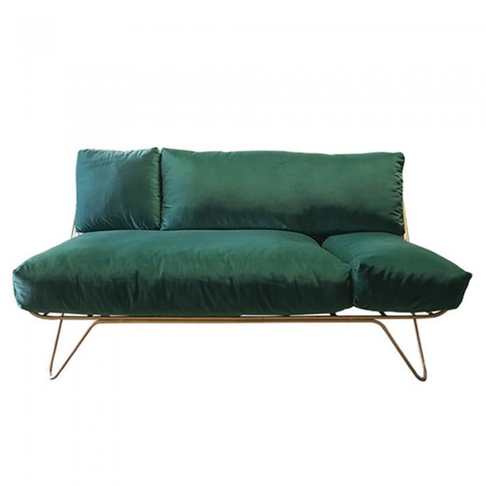 CROISETTE dark green velvet sofa S - HONORE