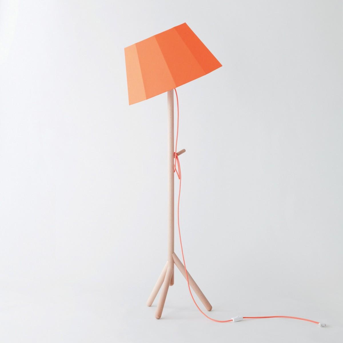 Tilt Floor Lamp Orange Faces Colonel
