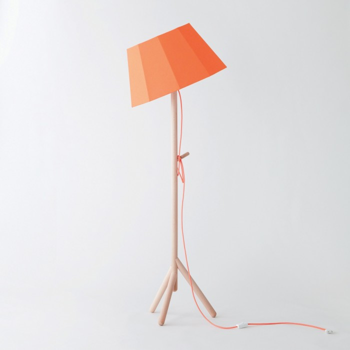 Tilt floor lamp orange faces colonel faces orange lamp mozeypictures Image collections