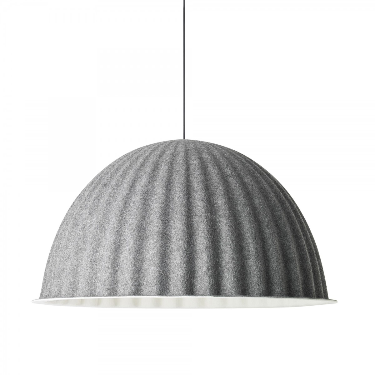 Topp UNDER THE BELL pendant lamp in grey acoustic felt - MUUTO JF-08
