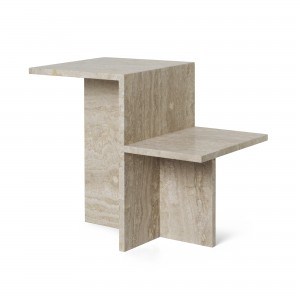 DISTINCT TRAVERTINE Side table