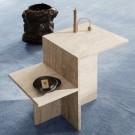 DISTINCT TRAVERTINE Side table