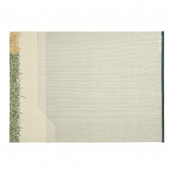 BACKSTITCH calm green rug