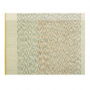BACKSTITCH busy green rug