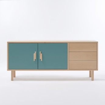 INVADER sideboard blue Menthe douce L