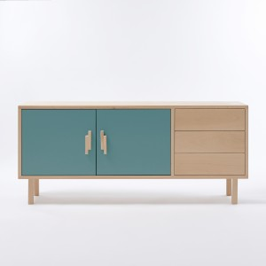 INVADER sideboard with drawers - Menthe douce