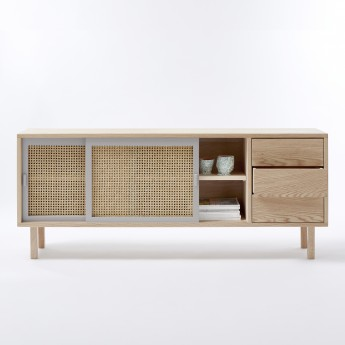 STRAW sideboard with drawers - Mesclun