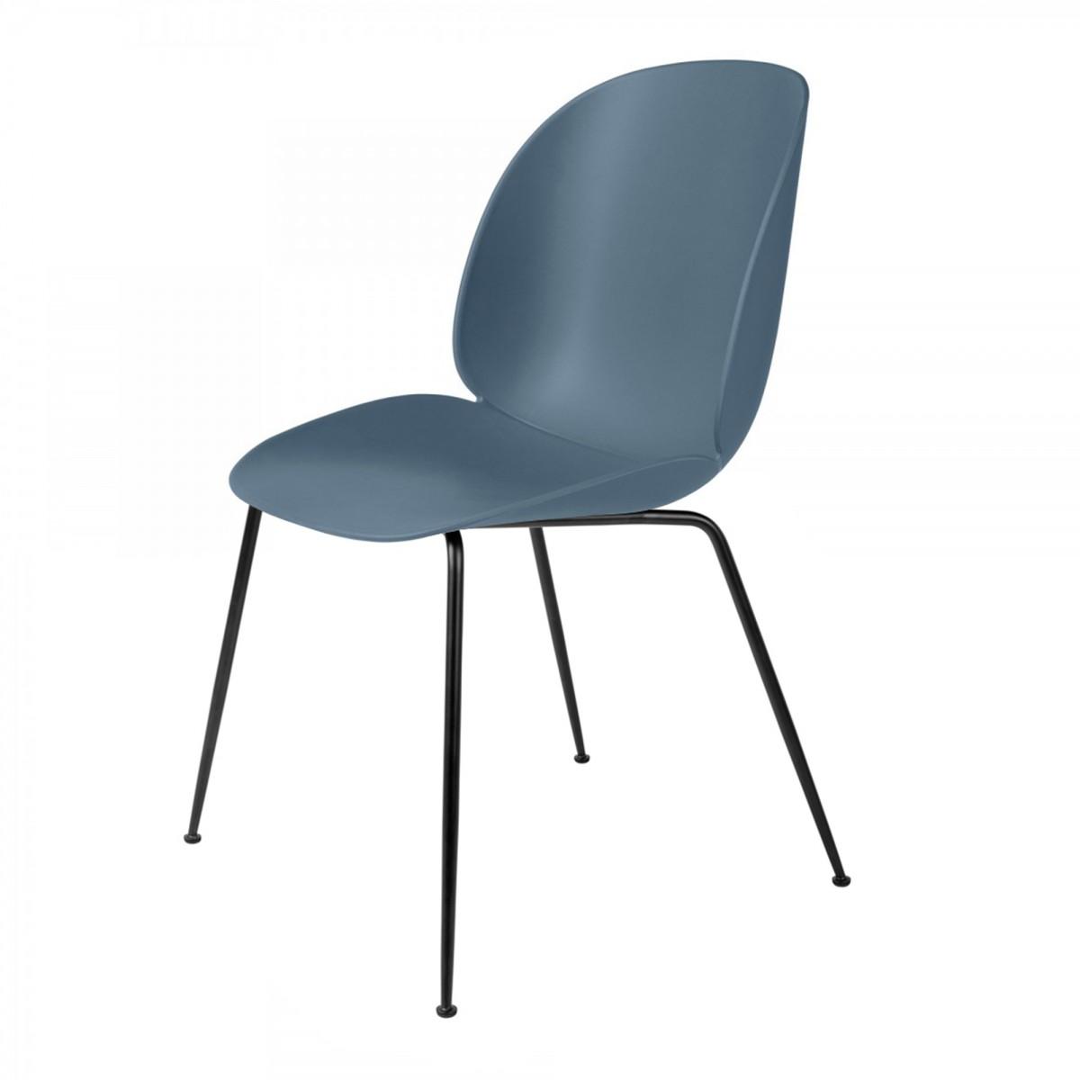 Chaise BEETLE bleu gris & métal noir Gubi