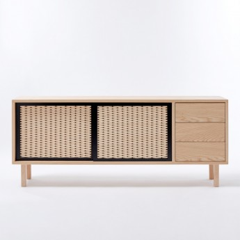 PAON sideboard with drawers - black