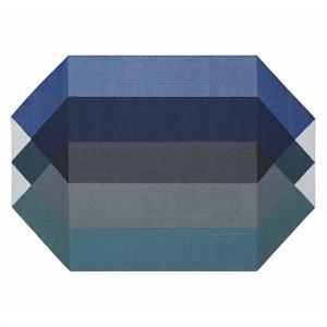 Tapis DIAMOND - Bleu/Vert