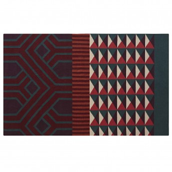 Tapis NDEBELE - Rouge
