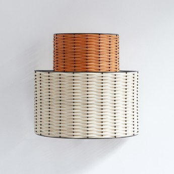 Lampe SEMI-CIRCLE corail et naturel