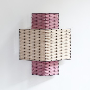RIANGLE lamp pink and natural
