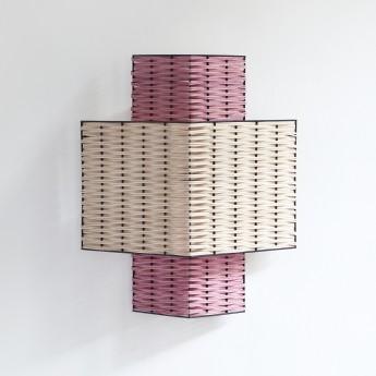 RIANGLE lamp pink and natural