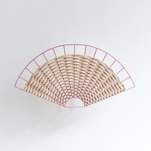 FAN sconce pink and natural