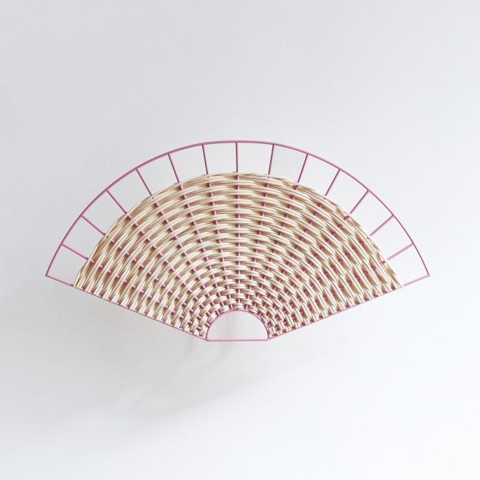 Lampe SEMI-CIRCLE corail et naturel