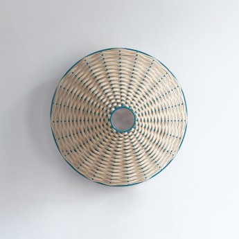 CIRCLE sconce green and natural